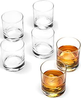 "Bormioli Rocco Small 2 ¾"" x 3"" Italian Weighted Bottom Old Fashioned Whiskey Glasses for Wine, Scotch, Cocktails, Juice, and Water - [6 Piece Set] 6 ½ Ounce"