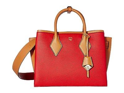 MCM Neo Milla Park Avenue Tote Medium (Ruby Red) Handbags