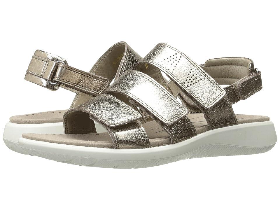 ECCO Soft 5 3-Strap Sandal (Warm Grey Cow Leather) Women