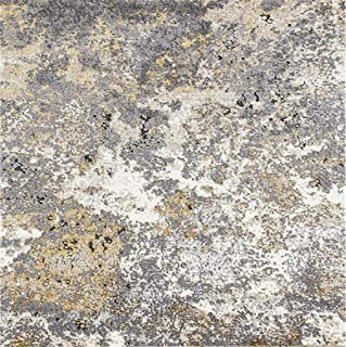 6490 Gray Abstract 8 x 11 Area Rug Carpet Large New