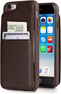 iPhone 6(S) Wallet Case - Card Holder Up to 8 Cards - Vaultskin Eton Armour iPhone 6(S) (4.7) - Slim, Minimalist Genuine Leather Travel Case (Brown)