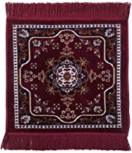 HOMECRUST Pooja Aasan Velvet mat for Praying/Meditation/Rituals - Maroon