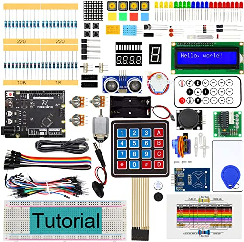 Freenove RFID Starter Kit V2.0 with Board V4 (Compatible with Arduino IDE) (Black Board), 266 Pages Detailed Tutorial...