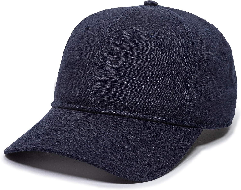 Ripstop Blank Performance Navy Hat - Adjustable Size Baseball Cap for Men & Women