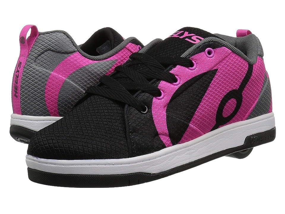 Heelys Repel (Little Kid/Big Kid/Adult) (Black/Charcoal/Hot Pink) Girls Shoes