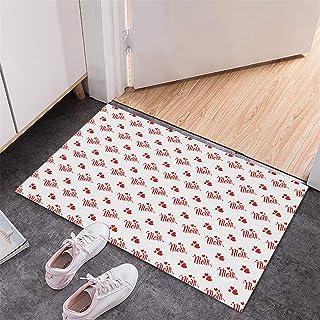 BISXOTY Mother's Day Mats,Easter Day Decoration Doormats,Anti-Skid Bottom Floor Mat,Indoor Outdoor Carpet,Entrance Mats,No...
