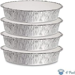bandejas de aluminio con tapas 23 cm x 23 cm almacenar y congelar cocinar Paquete de 10 sartenes cuadrados desechables de aluminio con tapas ideales para hornear