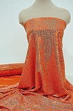 Confetti dot sequin glued on knit..semi sheer..Neon Orange (Neon Orange)