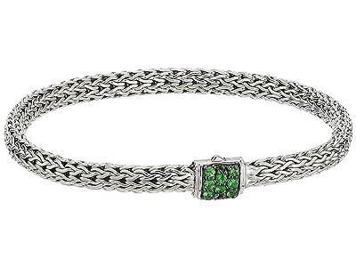 John Hardy Classic Chain 5mm Bracelet with Tsavorite (Silver) Bracelet