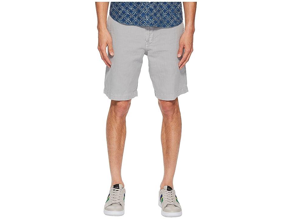 Image of Billy Reid Clyde Linen Shorts (Quarry) Men's Shorts