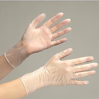 ミドリ安全 使い捨てPVC手袋 ベルテプラテ851 M (粉なし/100枚)
