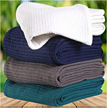 100% Soft Premium Cotton Thermal Blanket in Waffle Weave- Twin 60x90 White - Snuggle in These Super Soft,Breathable Cozy Cotton Blankets - Perfect for Layering Any Bed - Provides Comfort