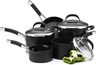 Circulon Premier Professional Saucepan and Frypan Set of 5 – Lifetime Guarantee – Non-Stick - glass lids - Hard Anodized Aluminium Cookware – Induction, Oven and Dishwasher Safe