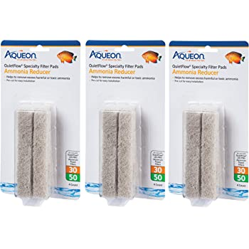 (3 Pack) Aqueon Ammonia Reducing Filter Pad