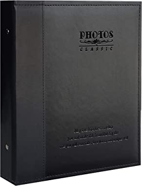 Zoview Leather Photo Album Holds 3X5, 4X6, 5X7, 6X8, 8X10 Photos, Dust-Free, Air-Free, and Waterproof, Hand Made DIY Albums (