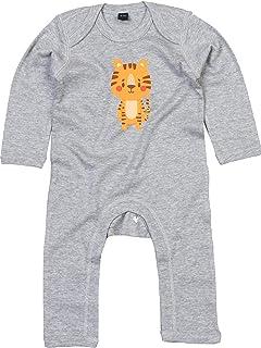 Kleckerliese Baby Strampler Schlafanzug Overall Sprüche Jungen Mädchen Motiv Tiermotiv Tiere Tiger