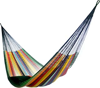Hammocks Rada: Handmade Yucatan Hammock - Matrimonial Size Tropical Multicolor - 13ft Long Artisan Crafted