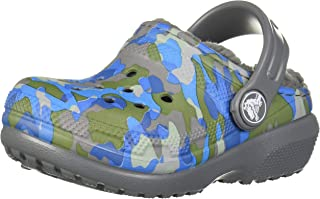 Crocs Classic Printed Lined Clog K, Zuecos Niños Unisex