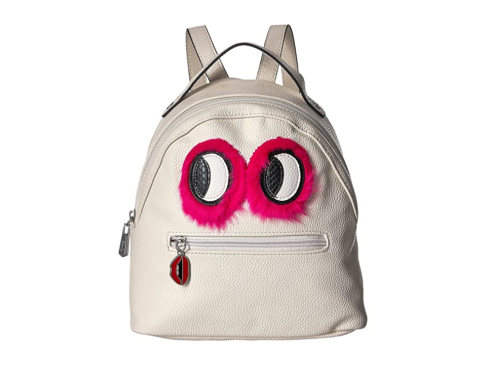 Circus by Sam Edelman Eva Mini Backpack w/ Eye Applique (Ivory/Pink Fur Eyes) Backpack Bags