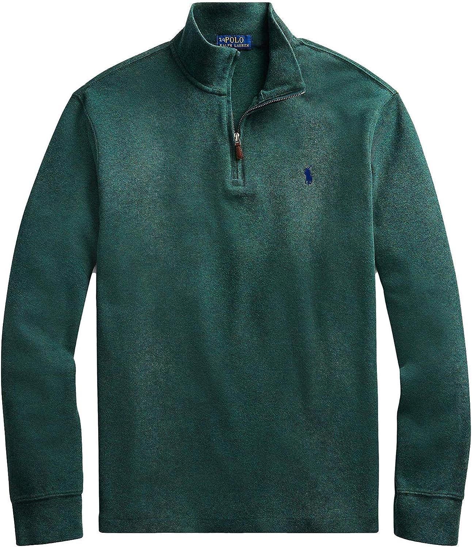 shopping Polo Ralph Lauren Popular Men's Half-Zip Green Pima Sma Sweater Cotton