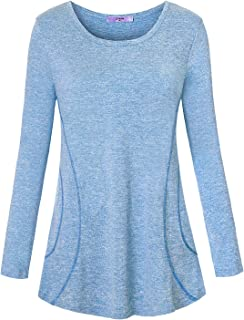 Luranee Womens Yoga Running Tops Short Sleeve Crew Neck Casual Loose Gym Shirts