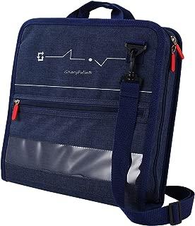 GXaryFulin Zipper Binder 3-Ring Binder with Shoulder Strap, 3-inch, Blue