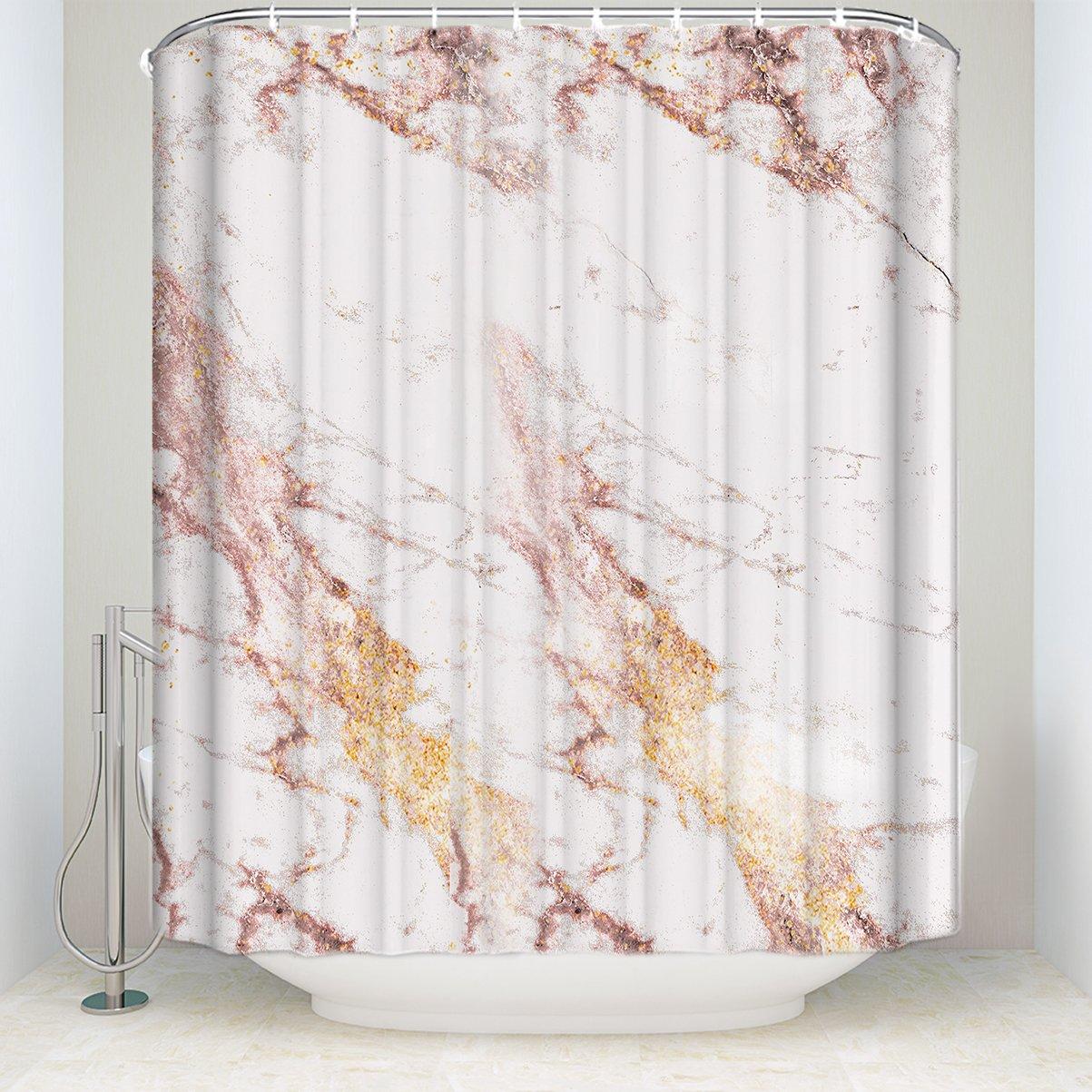 "Customize Rose Gold flashing marble Shower Curtain Bathroom Decor 24""x 24"""