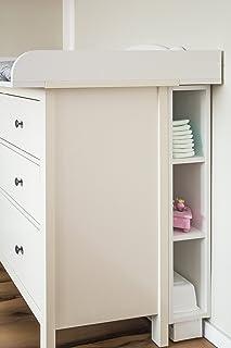 comprar comparacion KraftKids, estantería para cambiador, color blanco, se adapta a la cómoda HEMNES