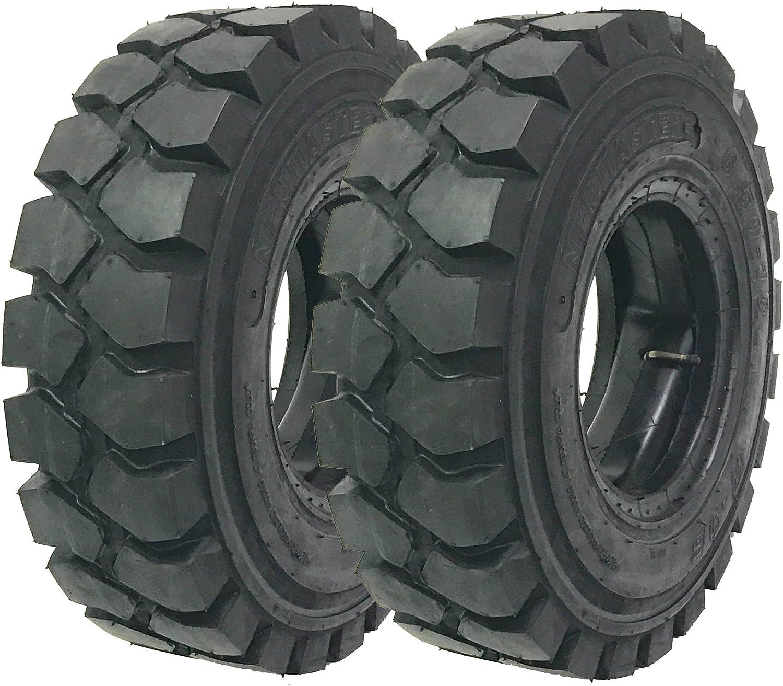 2 New Zeemax Heavy Duty 5.00-8 Max 45% OFF Forklift Fla 10TT Tires Tube Bargain w