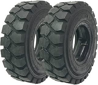 Set of 2 New ZEEMAX HD 6.00-9/10TT Forklift Tires w/Tube & Flap & Rim Guard
