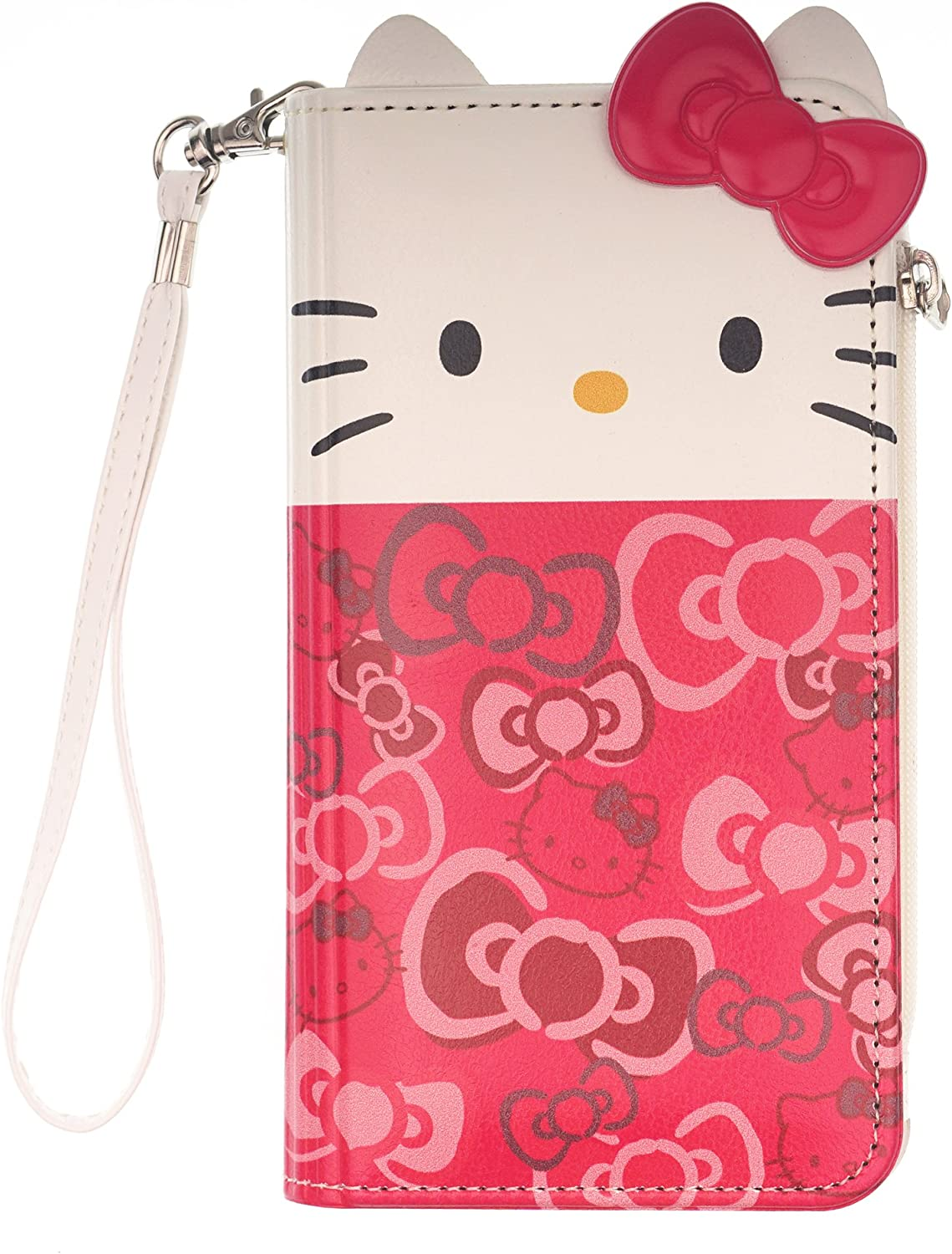 Compatible with iPhone Xs Max Case Flip Doub Detroit Mall 2021 autumn and winter new Diary Kitty Hello