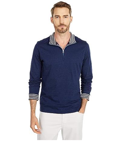 Robert Graham Triple Crown 1/4 Zip Sweater (Navy) Men