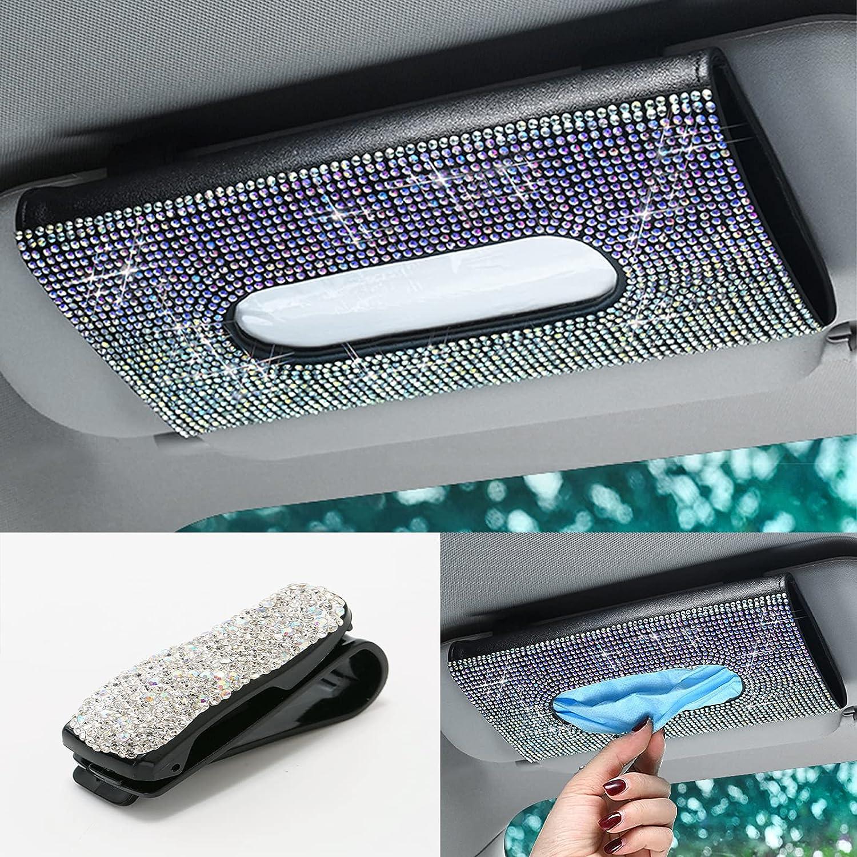 Sunnyhot Visor Mask Holder Bling Colorful Viso New item Car Diamond Recommended