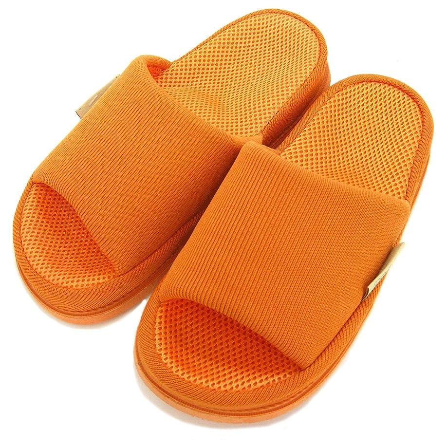 人種ラバショート足で癒す リフレクソロジースリッパ リフレ 中心 オレンジ M