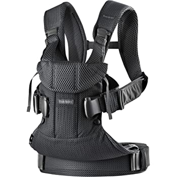 BabyBjörn New Baby Carrier One Air 2019 Edition, Mesh, Black, One Size (098025US)
