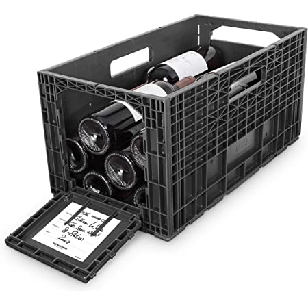 Flexible Wine Storage System for Wine Collectors   Front and Rear Access Door   Stackable Storage Solution   3 Separate Weinbox Storage Crates   Hold Up To 36 Bottles   Works with All Bottle Shapes
