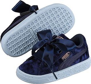 حذاء رياضي للاطفال من مادة البوليسترين فيلور باسكت هارت من بوما (ازرق بحري - 32 EU)