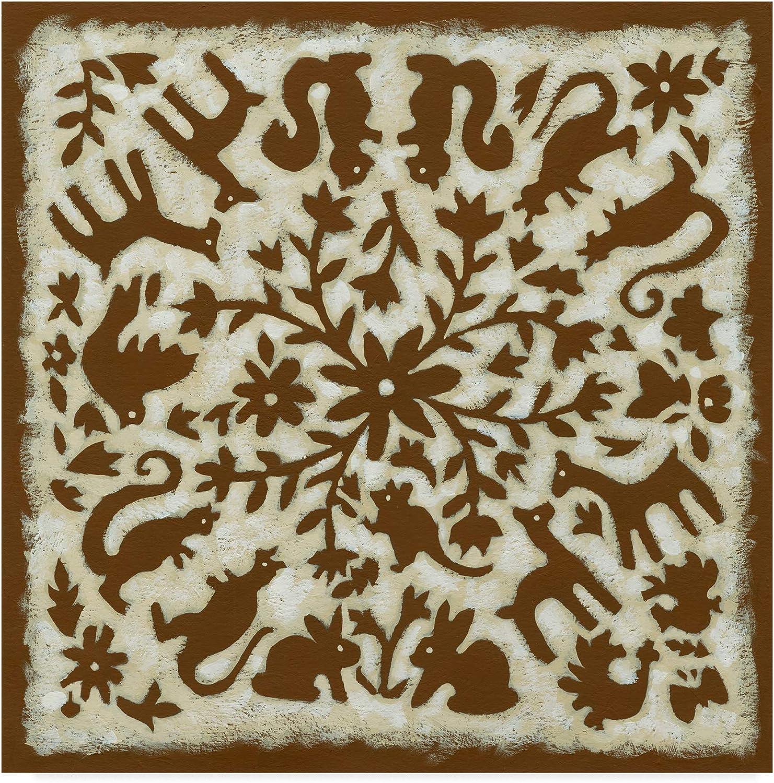 Trademark Fine Art Folk Story in Brown Art by Chariklia Zarris, 14x14