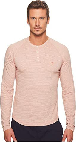 Original Penguin Long Sleeve Feeder Auto Stripe Henley