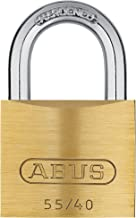 ABUS 55/40 Solid Brass Padlock Keyed Different - Hardened Steel Shackle