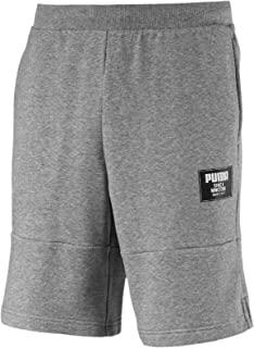 PUMA Men's Rebel Block Shorts, Medium Gray Heather