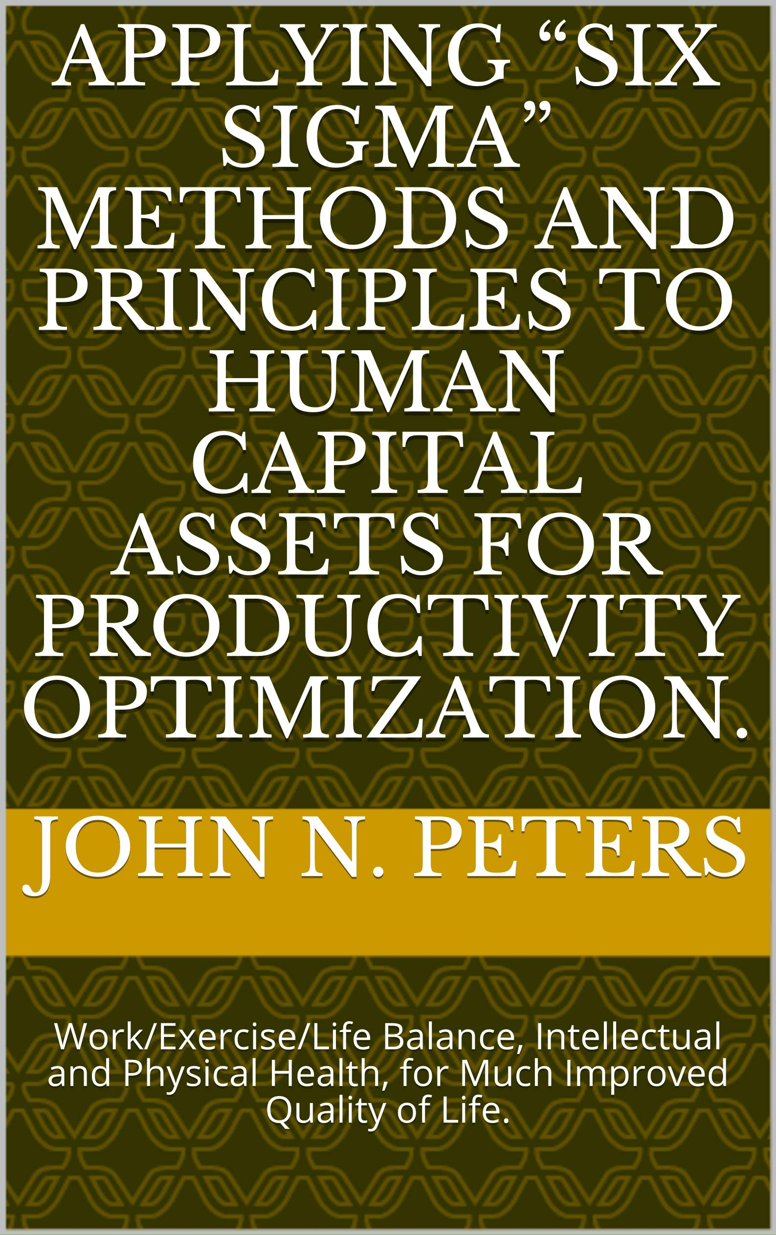 """Applying """"Six Sigma"""" Methods and Principles to Human Capital Assets for Productivity Optimization.: Work/Exercise/Life Balance, Intellectual and Physical Health, for Much Improved Quality of Life."""