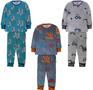 NammaBaby Cotton Full Sleeves Vest- Tshirt with Rib Leggings Pajama Set Full Sleeves Tee and Lounge Pant Multi-Coloured Set of 3
