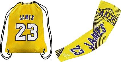 Forever Fanatics James #23 Basketball Fan Gift Set ✓ James #23 Jersey Drawstring Backpack Gym Bag & Matching Compression Shooter Arm Sleeve