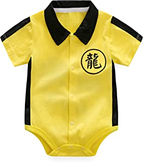 Newborn Baby Clothes Boys Outfit Romper Bruce Lee Kung Fu Jumpsuit Bodysuit