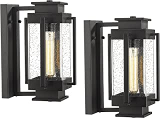 Sponsored Ad - Osimir Outdoor Light Fixtures Wall Mount 2 Pack, Outdoor Wall Lights in Black Finish with Seed Glass, 14.5 ...