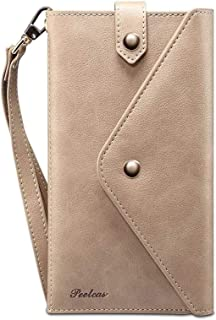 """Cell Phone Accessories for Cell Phones Smaller Than 6.5"""",Multifunctional Universal Smartphone Case Handbags,2 in 1 Leather..."""