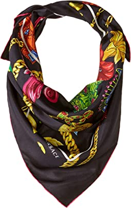 Flower & Chain Silk Scarf