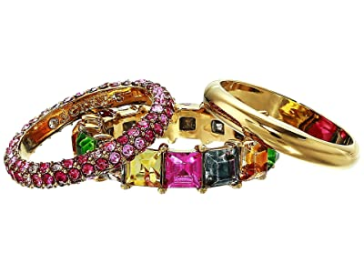 J.Crew Stacked Pave Ring Set (Multicolor) Ring