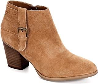 Franco Fortini Womens Briana Zip Up Ankle Boot Shoes